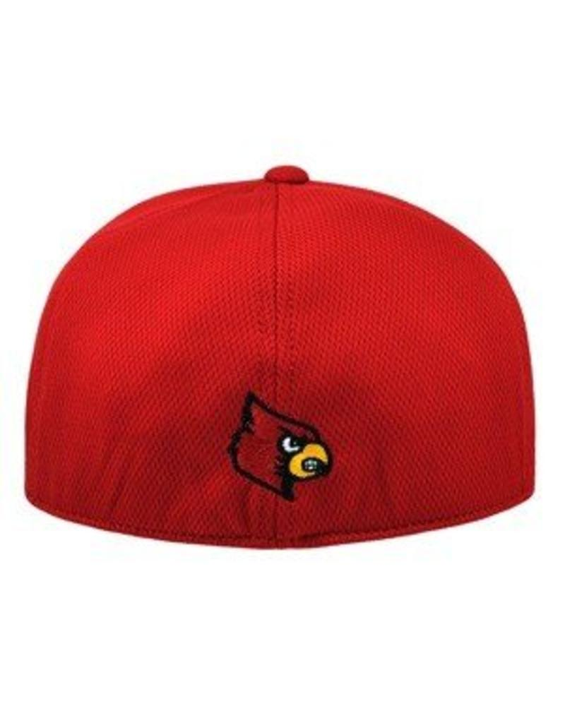 Top of the World HAT, 1-FIT,  BOOSTER, RED, UL