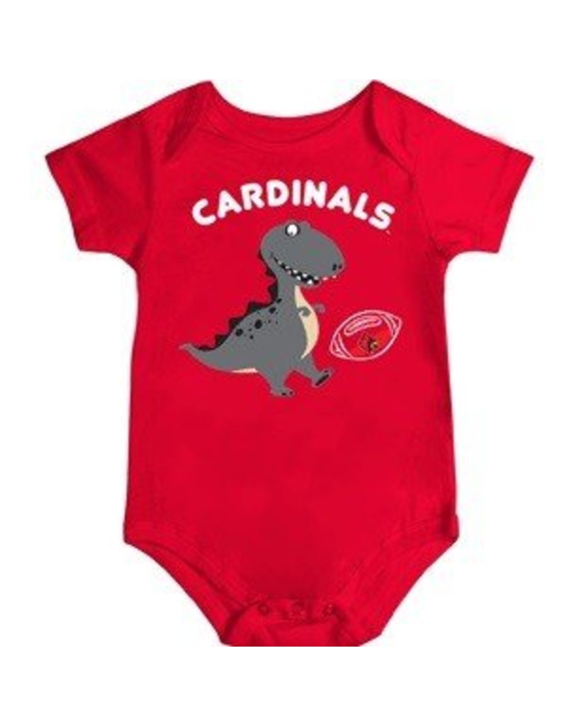 Colosseum Athletics ONESIE, INFANT, SS, DINO FAN, RED, UL-C