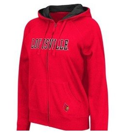 Colosseum Athletics HOODY, LADIES, FULL-ZIP, OMEGA, RED, UL