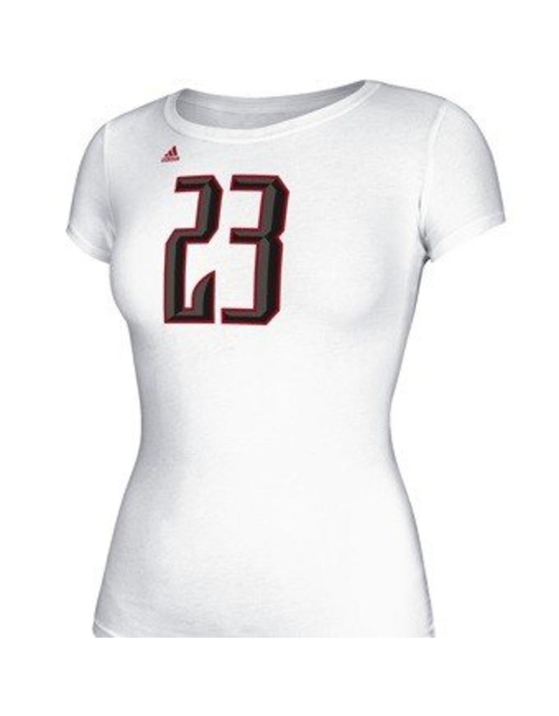 Adidas Sports Licensed TEE, LADIES, SS, ADIDAS, UNCAGED REPLICA, WHITE, UL