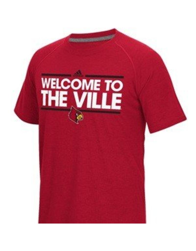 Adidas Sports Licensed TEE, SS, ADIDAS, WELCOME..VILLE, RED, UL