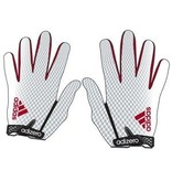 Saranac Gloves GLOVES, ADIDAS, ADIZERO, RECEIVER, WHITE/RED, UL