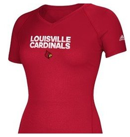 Adidas Sports Licensed TEE, LADIES, SS, ADIDAS, HUSTLE, RED, UL
