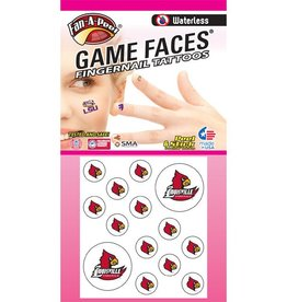 Fan A Peel NAIL TATTOOS, CARDINAL, 16 PIECE, UL