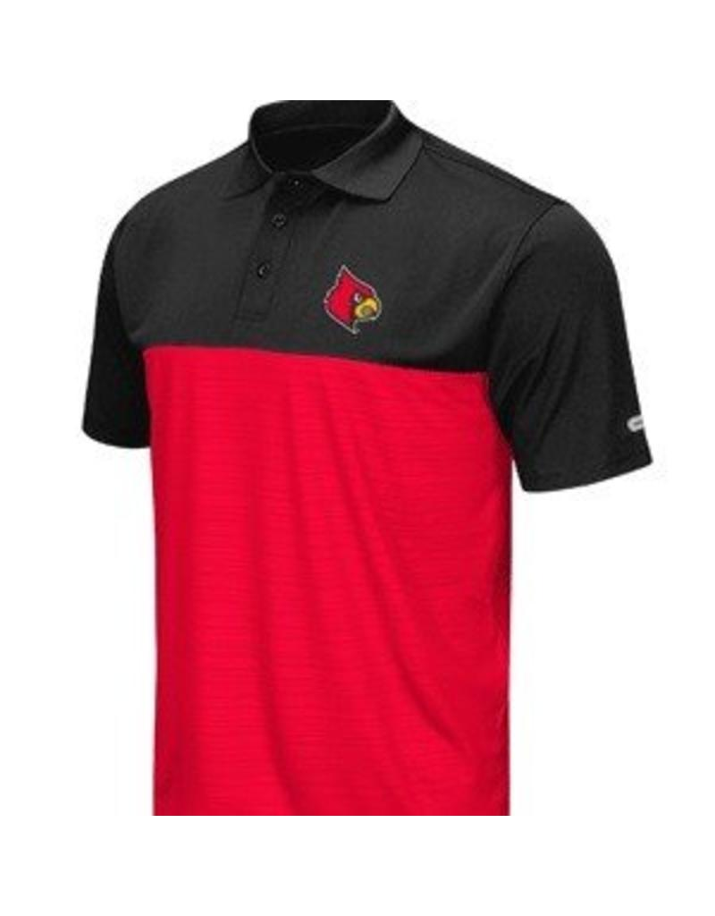 Colosseum Athletics POLO, VAULT, BLK/RED, UL