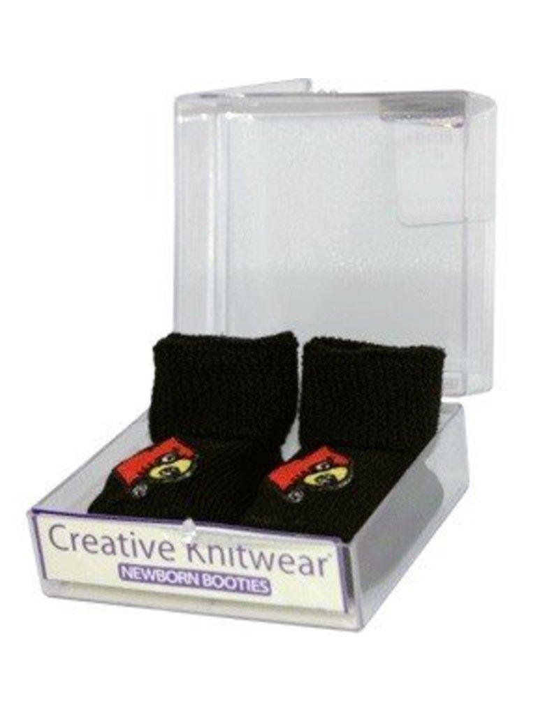 Creative Knitwear BOOTIES, INFANT, BLACK, UL