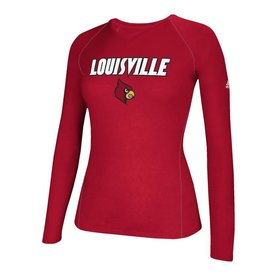Adidas Sports Licensed TEE, LADIES, ADIDAS, LS, SIDELINE, RED, UL