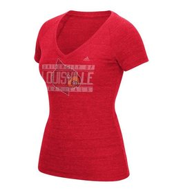 Adidas Sports Licensed TEE, LADIES, SS, ADIDAS, STONES, RED, UL-C