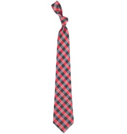 Eagles Wings Neck Tie TIE, WOVEN POLY, CHECK, RED/BLK, UL