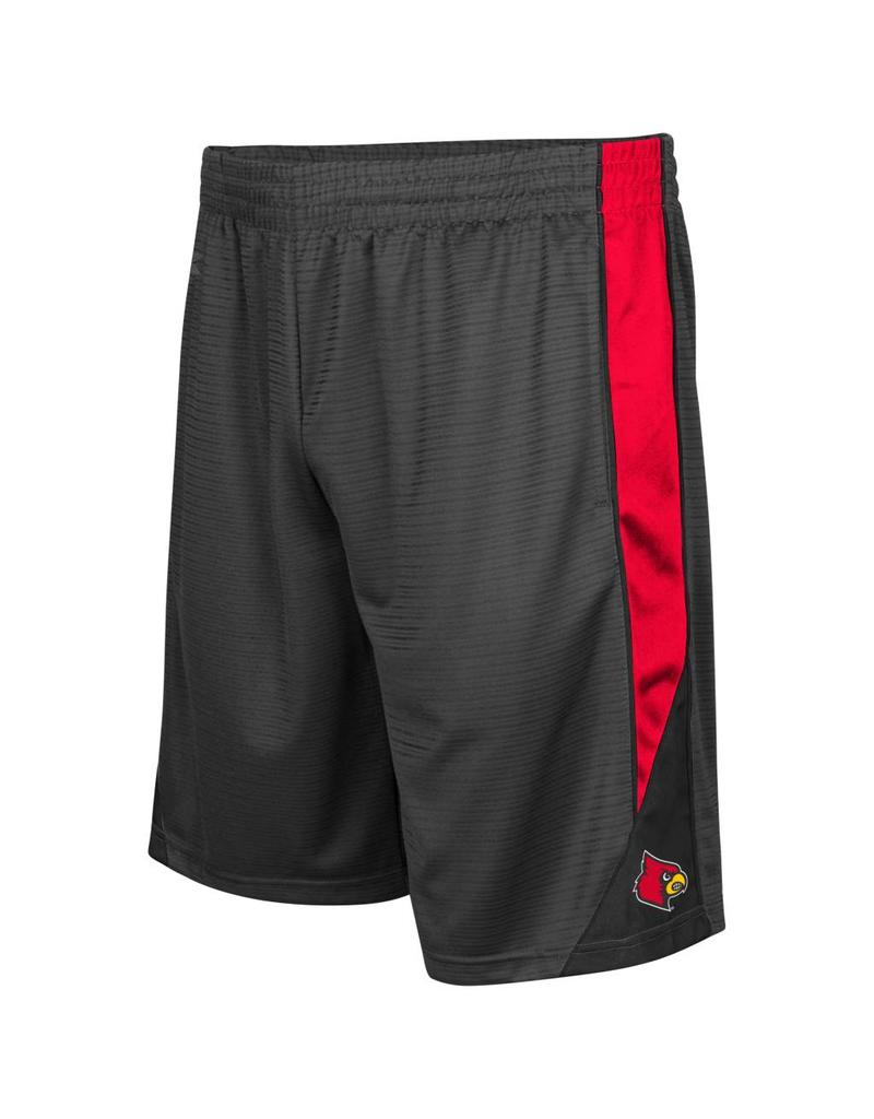 Colosseum Athletics SHORT, TURNOVER, CHARCOAL/RED, UL
