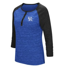 Colosseum Athletics TEE, LADIES, 3/4 SLEEVE, SLOPE, ROYAL, UK