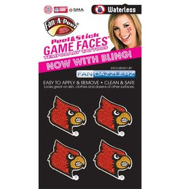Fan A Peel FACE TATTOOS, BLING, 4 PIECE, UL