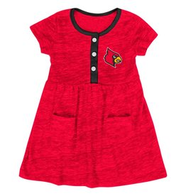 Colosseum Athletics DRESS, INFANT, GIRLS, TRIPLE JUMP, RED, UL