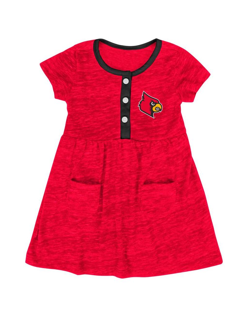 Colosseum Athletics DRESS, INFANT, GIRLS, TRIPLE JUMP, RED, UL