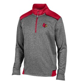 Champion Products PULLOVER, 1/4 ZIP, UNLIMITED, CHAR/RED, UL