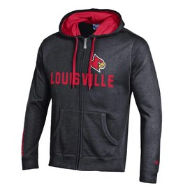 Champion Products HOODY, FZ, HERITAGE, BLK/RED, UL