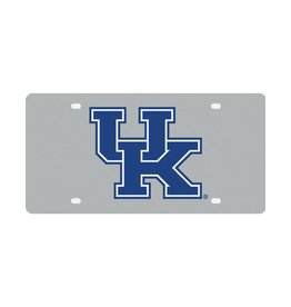 Stockdale Technologies LICENSE PLATE, ROYAL LOGO, SILVER/ROYAL, UK