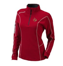 PULLOVER, LADIES, 1/4 ZIP, SHOTGUN, RED, UL