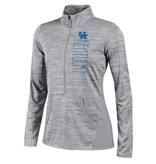 Champion Products PULLOVER, LADIES, 1/2 ZIP, GRAY, UK
