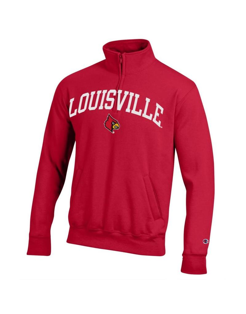 Champion Products PULLOVER, 1/4 ZIP, RED, UL