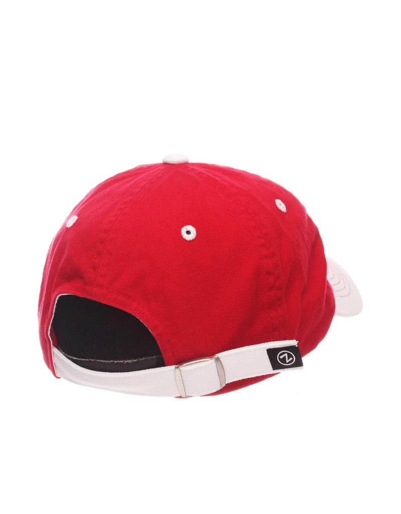 HAT, LADIES, ADJUSTABLE, VOGUE, WHITE/RED, UL