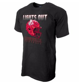 Step Ahead Sportswear TEE, SS, LIGHTS OUT, BLACK, UL