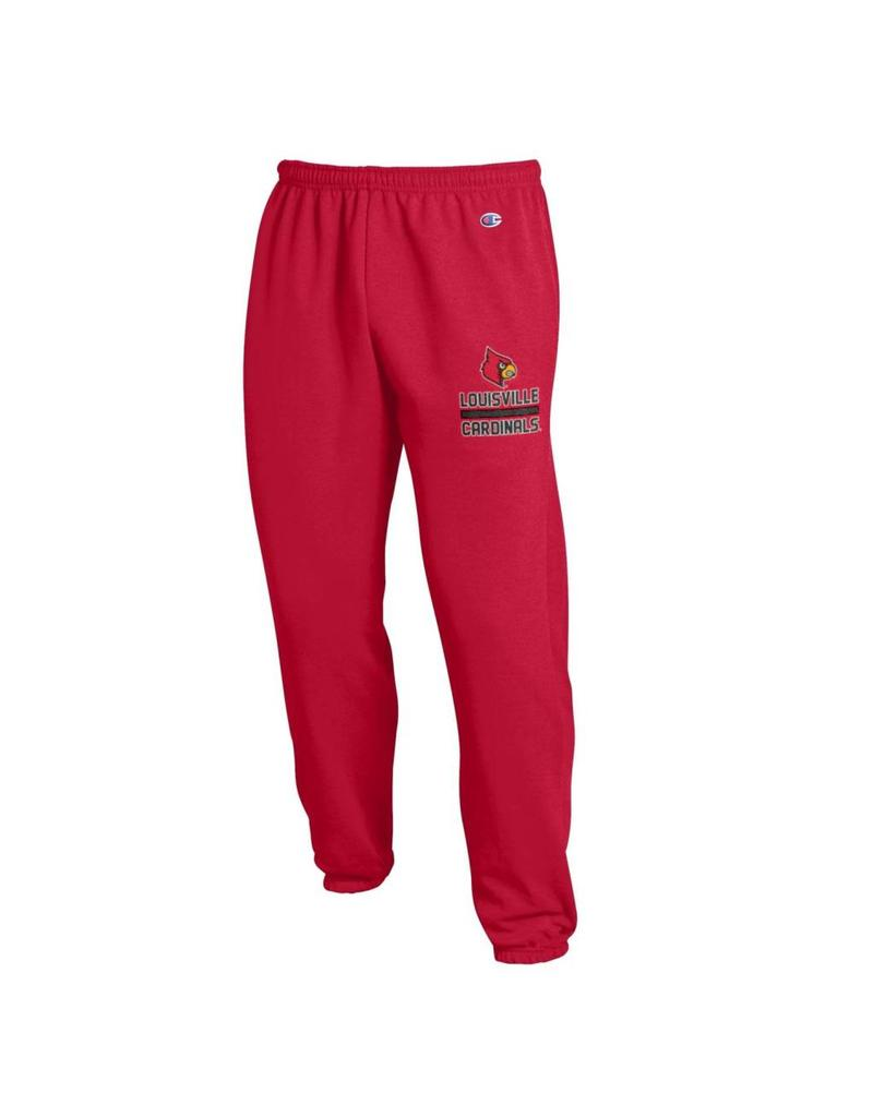 Champion Products PANT, FLEECE, BANDED LEG, RED, UL