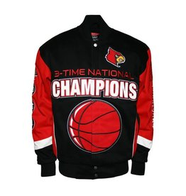 MTC Marketing JACKET, TWILL, CHAMP, BLK/RED, UL