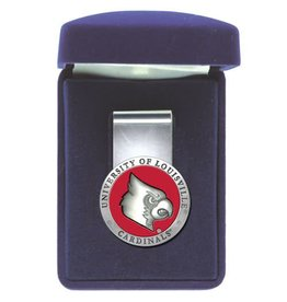 Heritage Metalworks MONEY CLIP, PEWTER, RED, UL