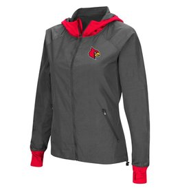 Colosseum Athletics JACKET, LADIES, BACKSIDE, CHARCOAL/RED, UL