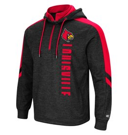Colosseum Athletics HOODY, 1/4 ZIP, LAWRENCE, CHAR/RED, UL