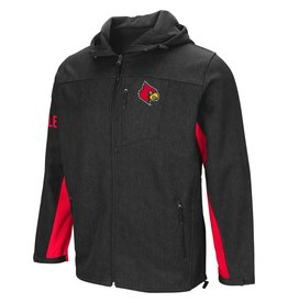 Colosseum Athletics JACKET, FULL-ZIP, GIBBONS, CHAR/RED, UL