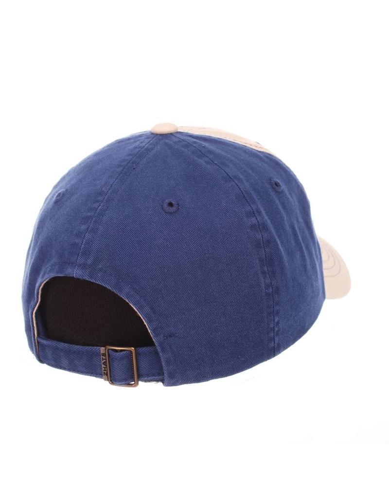 HAT, ADJUSTABLE, DEAN, KHAKI/ROYAL, UK
