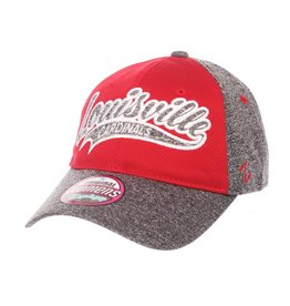 Zephyr Graf-X HAT, LADIES, ADJUSTABLE, TEMPEST, RED/GRAY, UL