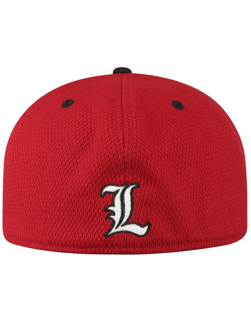 Top of the World HAT, YOUTH, FLEX-FIT, ROCKET, RED/BLACK, UL