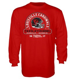 BLUE 84 TEE, LS, TAXSLAYER BOWL, RED, UL-C