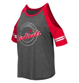 Colosseum Athletics TEE, LADIES, SS, MAE COLD SHOULDER, GRAY, UL