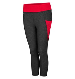 Colosseum Athletics LEGGINGS, LADIES, CAPRI, DORIS POCKET, BLACK, UL