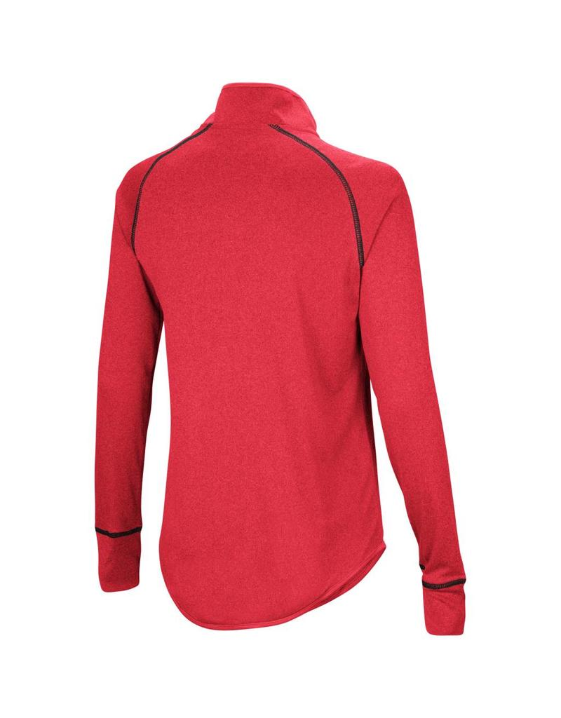 Colosseum Athletics PULLOVER, LADIES, 1/4 ZIP, KIT, RED, UL