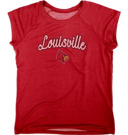 BLUE 84 TEE, LADIES, SS, CHLOE RAGLAN, RED, UL