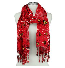 SCARF, SCARLET FASHION, RED, UL