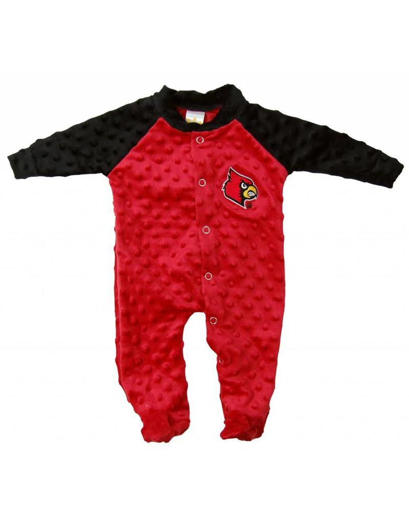 Little King ROMPER, INFANT, LS, CUDDLE BUBBLE, RED/BLK, UL
