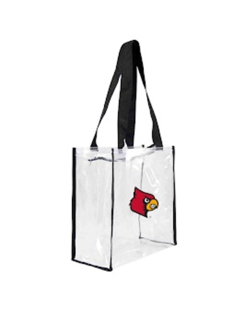 LITTLE EARTH BAG, CLEAR, SQUARE STADIUM W/ZIPPER, UL