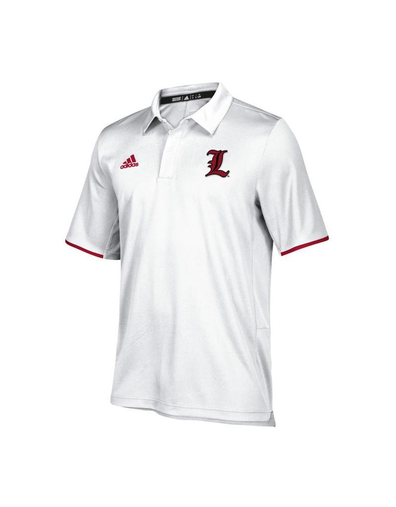 Adidas Sports Licensed POLO, ADIDAS, ICONIC CLIMALITE, WHITE, UL