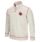 Colosseum Athletics PULLOVER, 1/2 BUTTON UP, BOURBON BOWL, GREY, UL