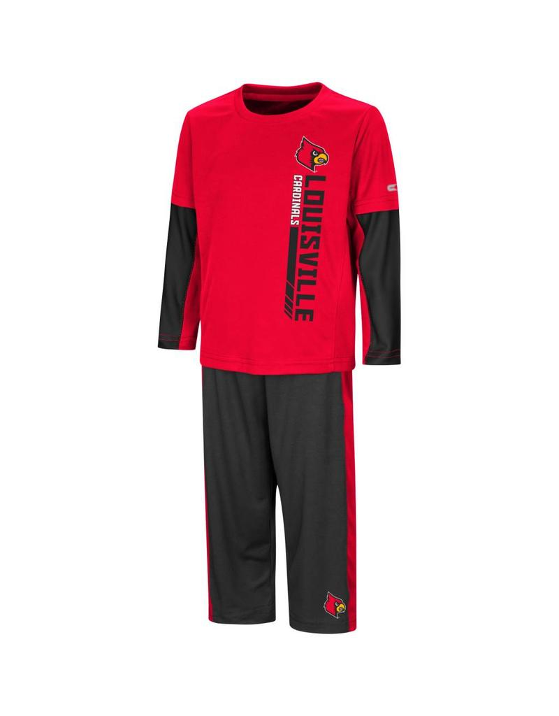 Colosseum Athletics SET, TODDLER, TEE&PANT, WE GOT US, RED/BLK, UL