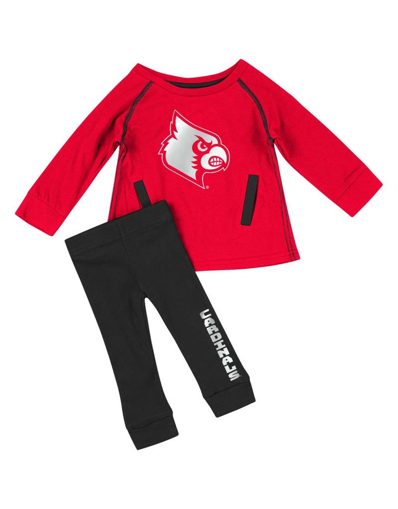 Colosseum Athletics SET, INFANT, NICE KICK, TUNIC , RED/BLACK, UL