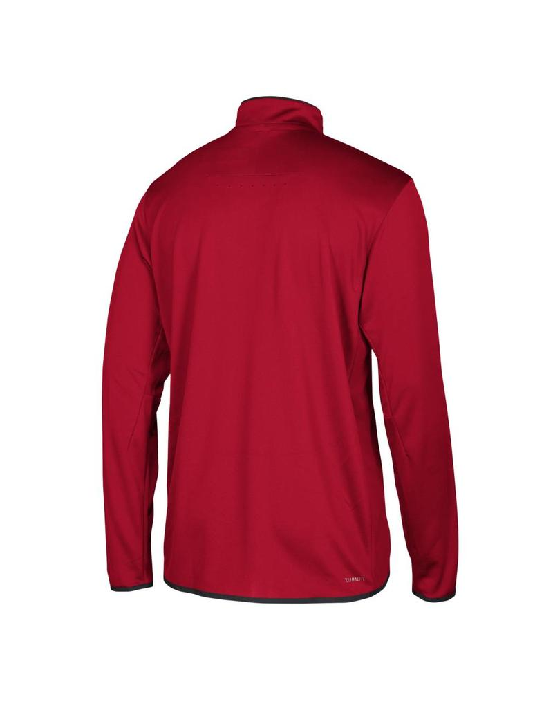 Adidas Sports Licensed PULLOVER, 1/4 ZIP, ICONIC KNIT, RED, UL