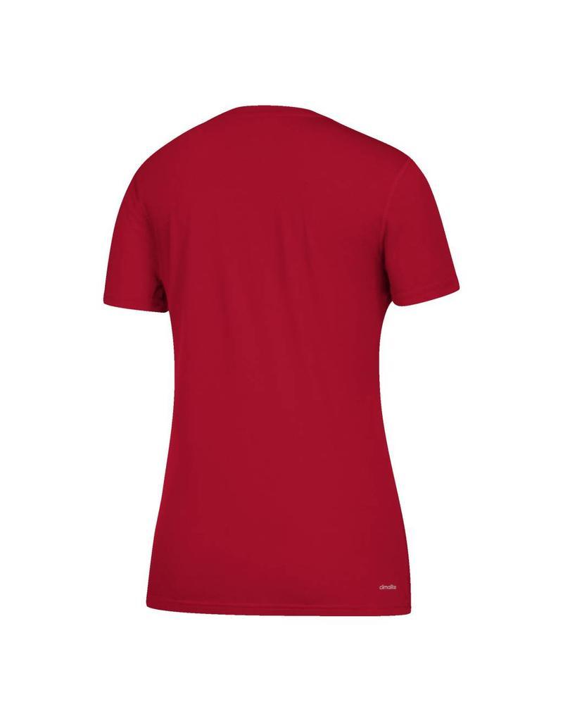 Adidas Sports Licensed TEE, LADIES, SS, ADIDAS, SIDELINE FOOTBALL, RED, UL