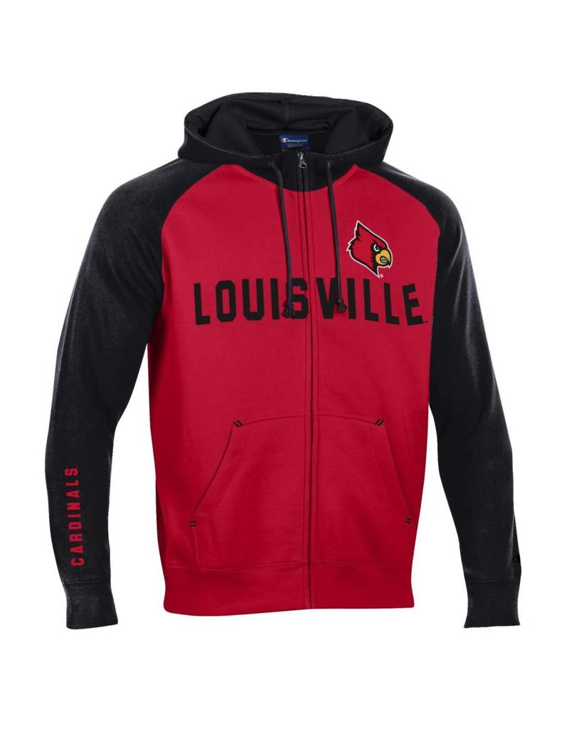 Champion Products HOODY, FZ, HERITAGE, RED/BLACK, UL